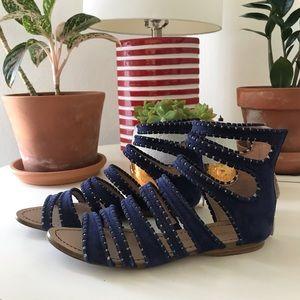 Sigerson Morrison Suede Gladiator Sandals